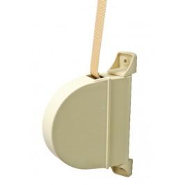 Recogedor de persiana abatible 14mm. Marfil