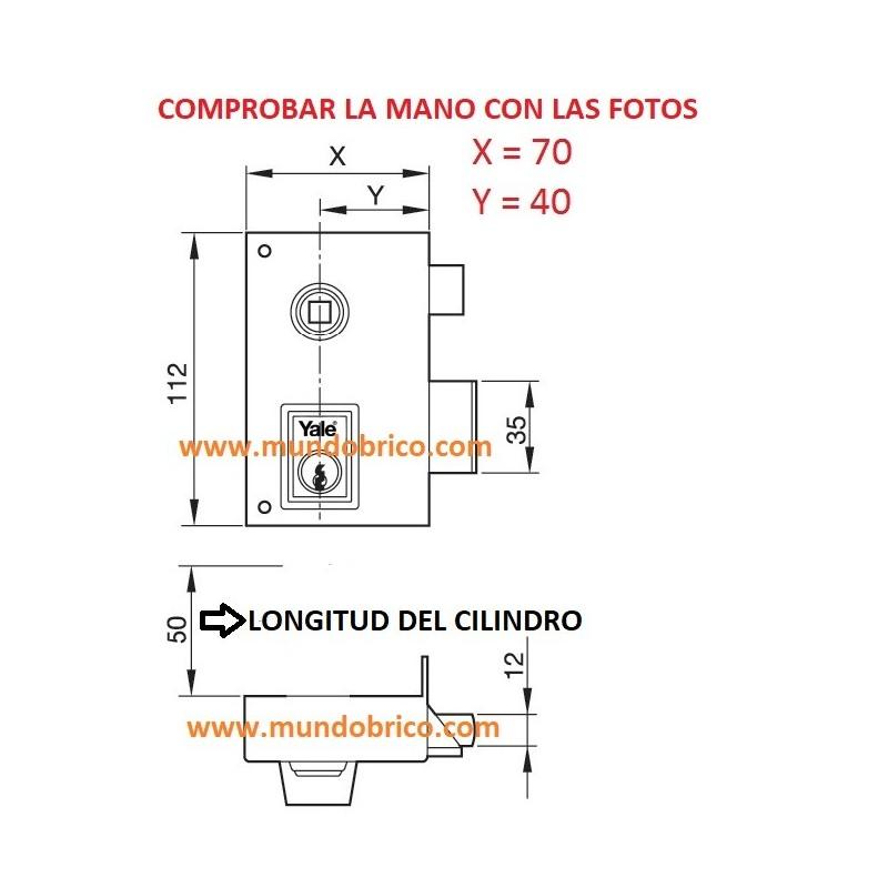 Cerradura AZBE YALE 56B 70 HP Derecha