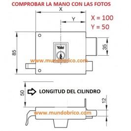 Cerradura AZBE YALE 125 100 HP Izquierda