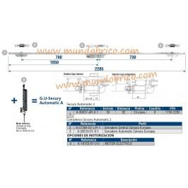 Cerradura Secury Automatic 2 ALUMINIO