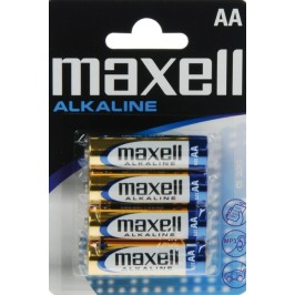 Pilas alcalinas Maxell AA LR06 Pack 4 unidades