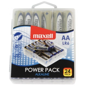Pilas alcalinas Maxell AA LR06 Pack 24 unidades
