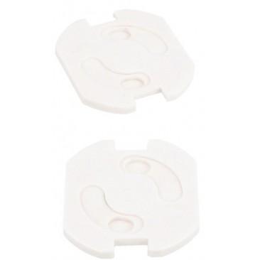 Protector giratorio de enchufes blancos