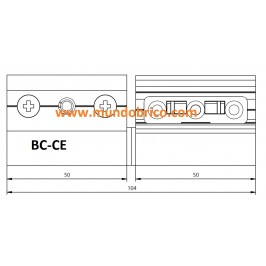 Bisagra BC-CE Izquierda Plata BAICHA