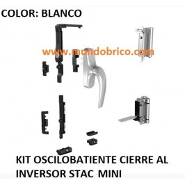 KIT Oscilobatiente STAC 1 hoja BLANCO MINI