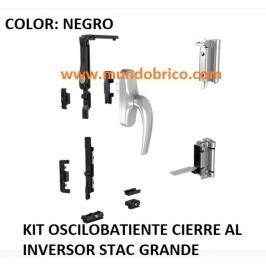KIT Oscilobatiente STAC 1 hoja NEGRO GRANDE