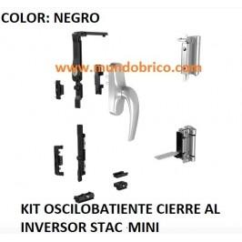 KIT Oscilobatiente STAC 1 hoja NEGRO MINI