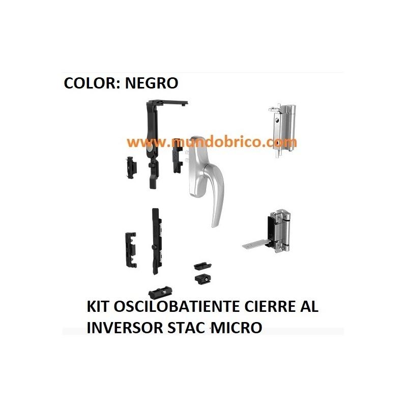 KIT Oscilobatiente STAC 1 hoja NEGRO MICRO