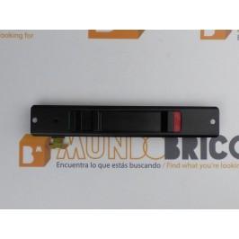 Cierre embutido IZQUIERDO Negro serie 5200 TECNAC