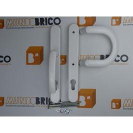 Manilla + Tirador P PUERTA PVC Blanca Con bocallave