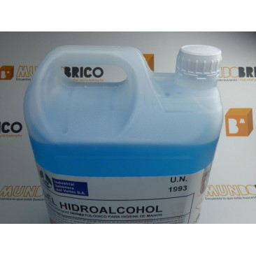 GEL HIDROALCOHOL VIRUCIDA 5 litros
