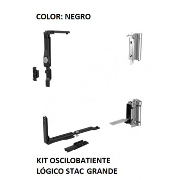 KIT Oscilobatiente LÓGICO STAC 1 hoja NEGRO GRANDE