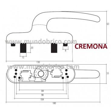 Cremona practicable JULCAR Blanco