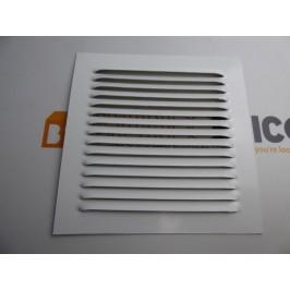 Rejilla de ventilacion 15x15 BLANCO de chapa de aluminio