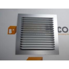Rejilla de ventilación 15x15 PLATA DE CHAPA DE ALUMINIO