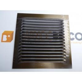 Rejilla de ventilación 15x15 BRONCE DE CHAPA DE ALUMINIO