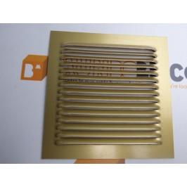 Rejilla de ventilación 15x15 ORO DE CHAPA DE ALUMINIO