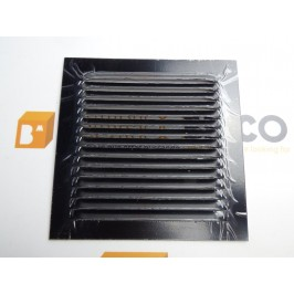 Rejilla de ventilación 15x15 NEGRO DE CHAPA DE ALUMINIO