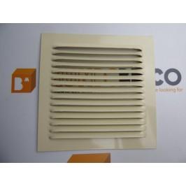 Rejilla de ventilación 15x15 RAL 1015 CREMA de chapa de aluminio