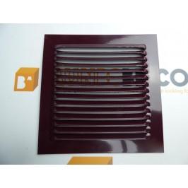 Rejilla de ventilación 15x15 RAL 3007 BURDEOS DE CHAPA DE ALUMINIO