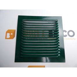 Rejilla de ventilación 15x15 RAL 6005 VERDE CHAPA DE ALUMINIO