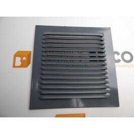 Rejilla de ventilación 15x15 RAL 7011 GRIS CHAPA DE ALUMINIO