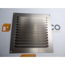 Rejilla de ventilación 15x15 INOX ANODIZADO CHAPA DE ALUMINIO