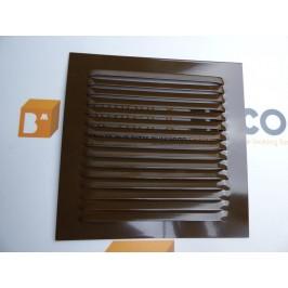 Rejilla de ventilación 15x15 RAL 8014 MARRÓN CHAPA DE ALUMINIO