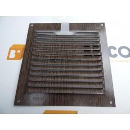 Rejilla de ventilación 15x15 WENGÉ MADERA CHAPA DE ALUMINIO