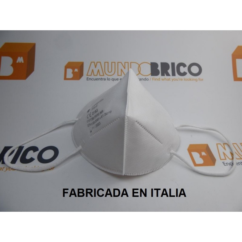 Mascarilla (10 unidades) FFP2 FILTRANTE CE 2163 Fabricada en Italia