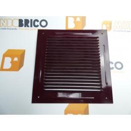 Rejilla de ventilación 20x20 RAL 3007 BURDEOS