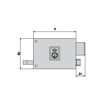 Cerradura CVL 125-AR-10-D