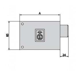 cerradura cvl 124A8-D