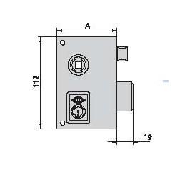 Cerradura CVL 56-BR-70-D
