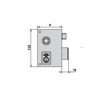 cerradura cvl 156B60-D