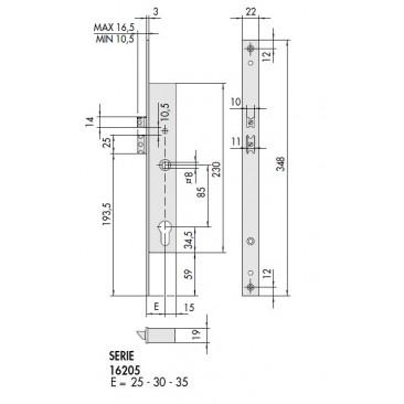Cerradura eléctrica CISA 16205-25