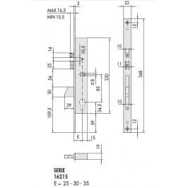 Cerradura eléctrica CISA 16215-25