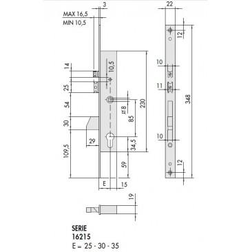 Cerradura eléctrica CISA 16215-30