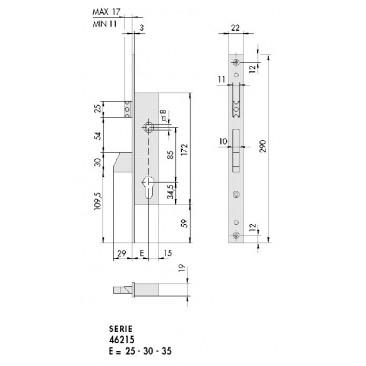 cerradura CISA 46215-30