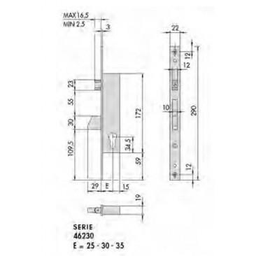 cerradura CISA 46230-35
