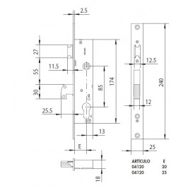 cerradura CISA 04120-20