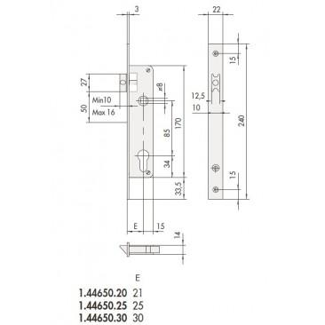 cerradura CISA 44610-30 portero