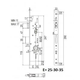 cerradura CISA 49225-35