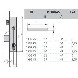 cerradura cvl 196/0-28 sin cilindro
