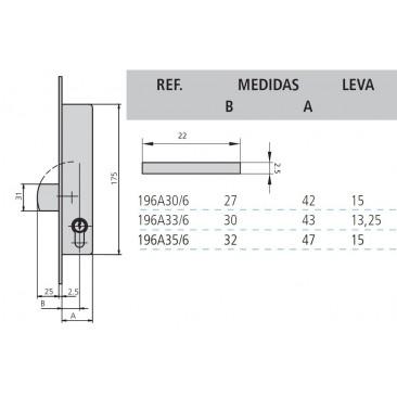 cerradura cvl 196A/0-33 sin cilindro