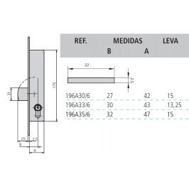 cerradura cvl 196A/0-35 sin cilindro