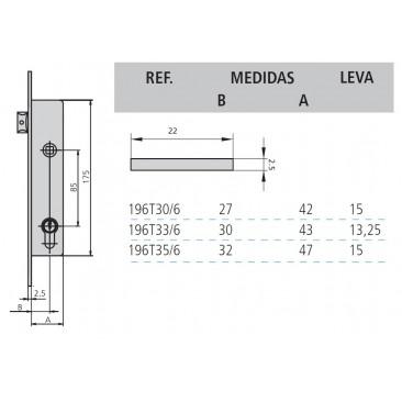 cerradura cvl 196T/0-33 sin cilindro