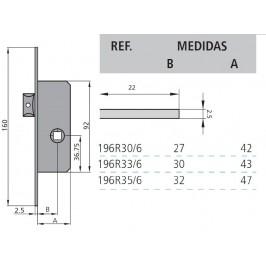 cerradura cvl 196R/0-33