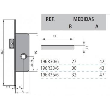 cerradura cvl 196R/0-35