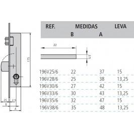 cerradura cvl 196V/0-33 sin cilindro